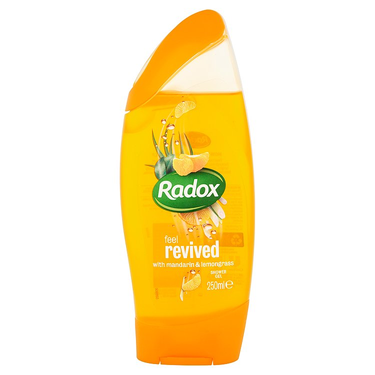 Fotografie Radox Feel revived mandarin & lemongrass sprchový gel 250 ml