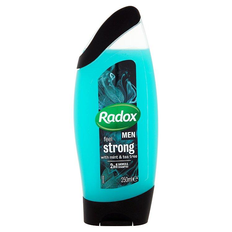 Radox Men Feel strong mint & tea tree 2v1 pánský sprchový gel a šampon 250 ml