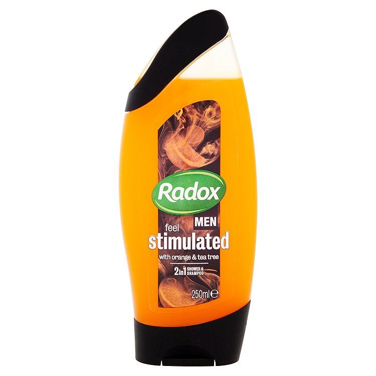 Radox Men Feel stimulated orange & tea tree 2v1 pánský sprchový gel a šampon 250 ml
