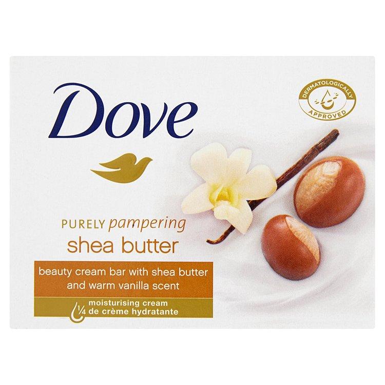Fotografie Dove Purely Pampering Shea Butter krémová tableta na mytí 100 g
