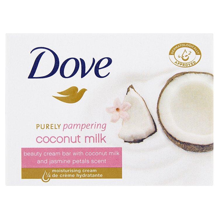 Fotografie Dove Krémová tableta Purely Pampering s vůní kokosového mléka a jasmínu (Beauty Cream Bar) 100 g