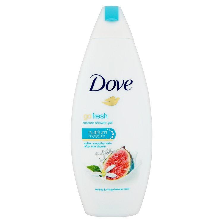 Fotografie Dove Go Fresh vyživující sprchový gel s vůní Modrého Fíku&Květů Pomerančovníku 250 ml