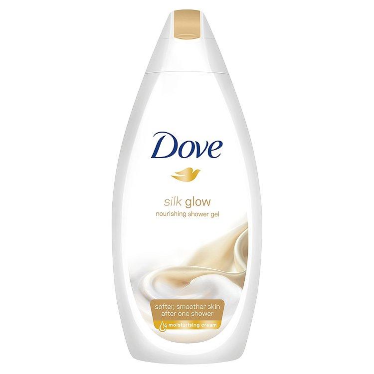 Fotografie Dove Silk Glow vyživující sprchový gel 500 ml