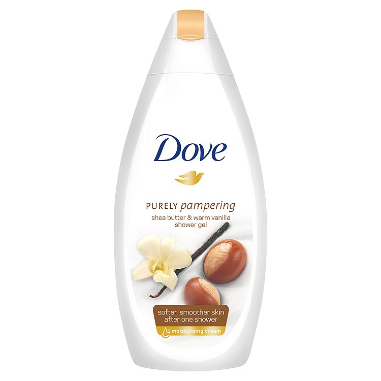 Dove Purely Pampering vyživující sprchový gel bambucké máslo a vanilka 500 ml