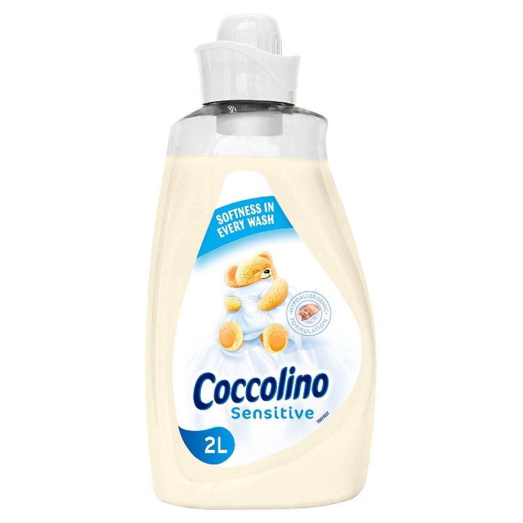 Fotografie Coccolino Sensitive hypoalergenní aviváž, 57 praní 2 l