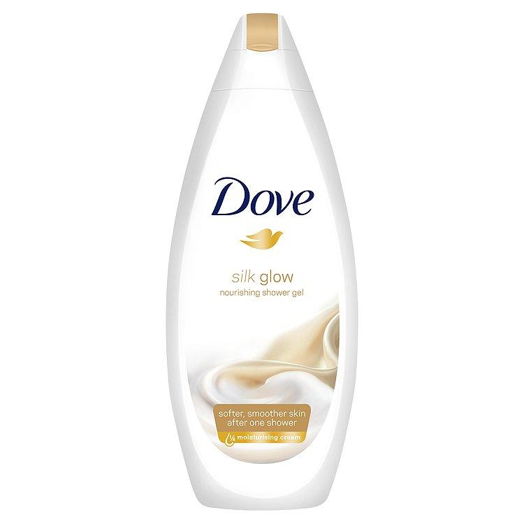 Dove Silk Glow vyživující sprchový gel 250 ml