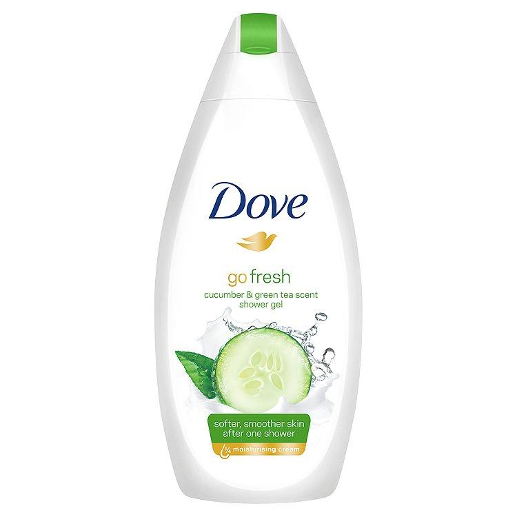 Dove Go Fresh vyživující sprchový gel s vůní Okurky&Zeleného čaje 500 ml
