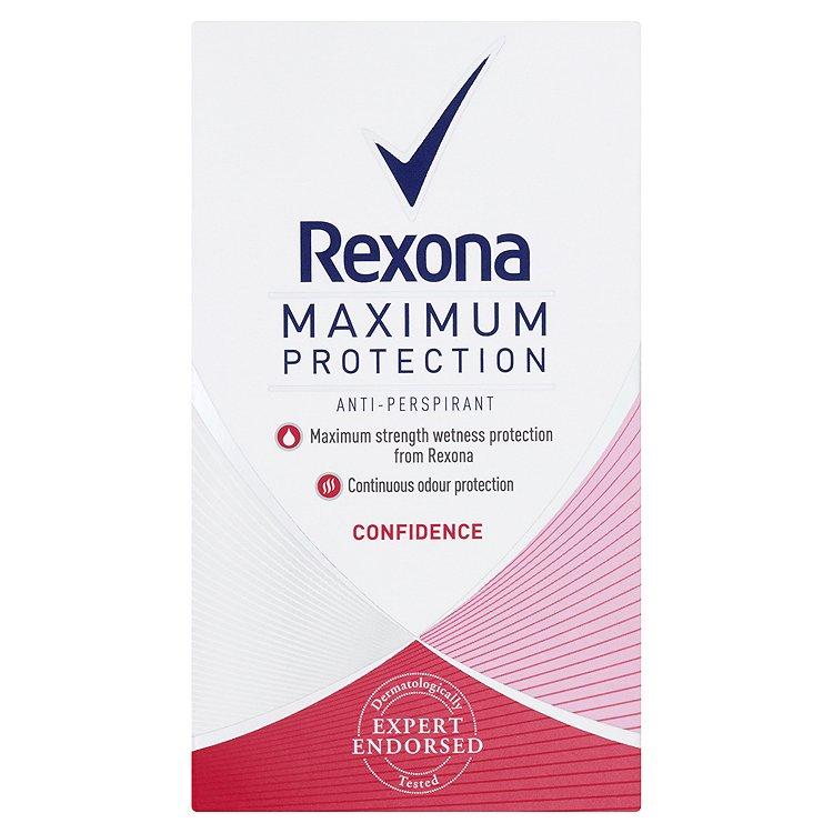 Rexona Maximum Protection Confidence antiperspirační krém 45 ml
