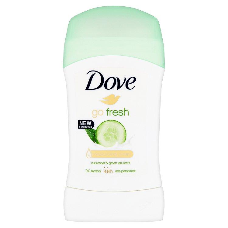 Dove Go Fresh Tuhý antiperspirant s vůní Okurky&Zeleného Čaje 40 ml