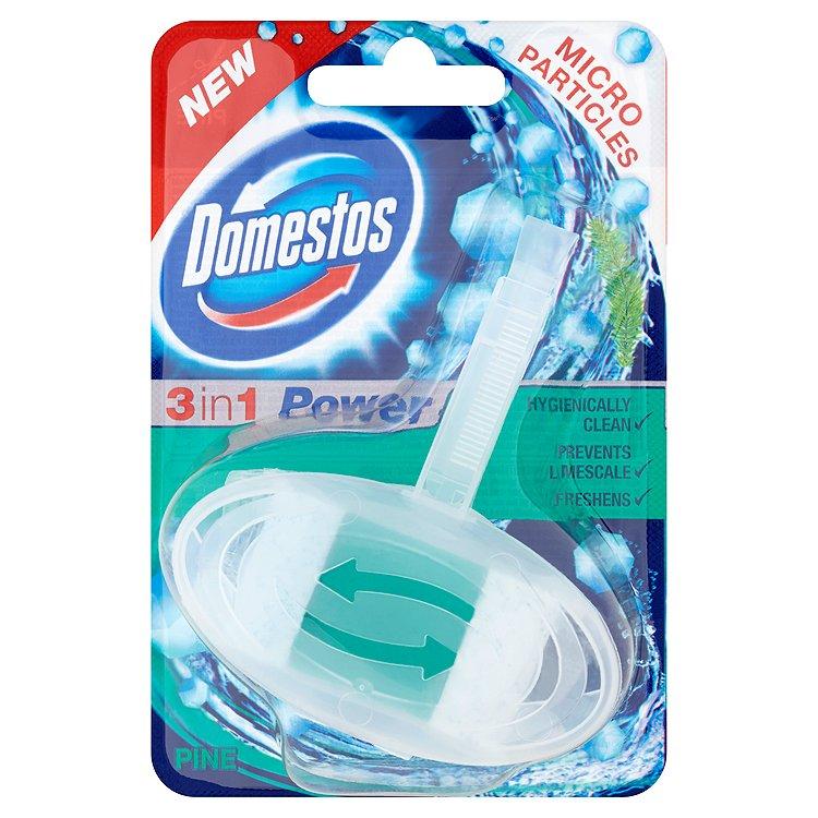 Fotografie Domestos 3 v 1, tuhý toaletní blok 40 g, Pine