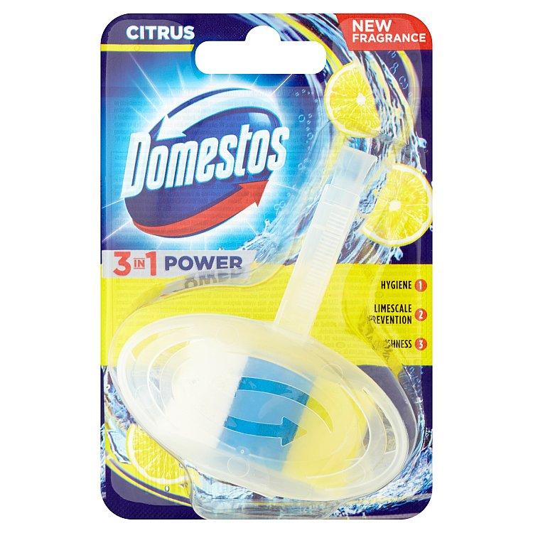 Fotografie Domestos 3 v 1, tuhý toaletní blok 40 g, Citrus