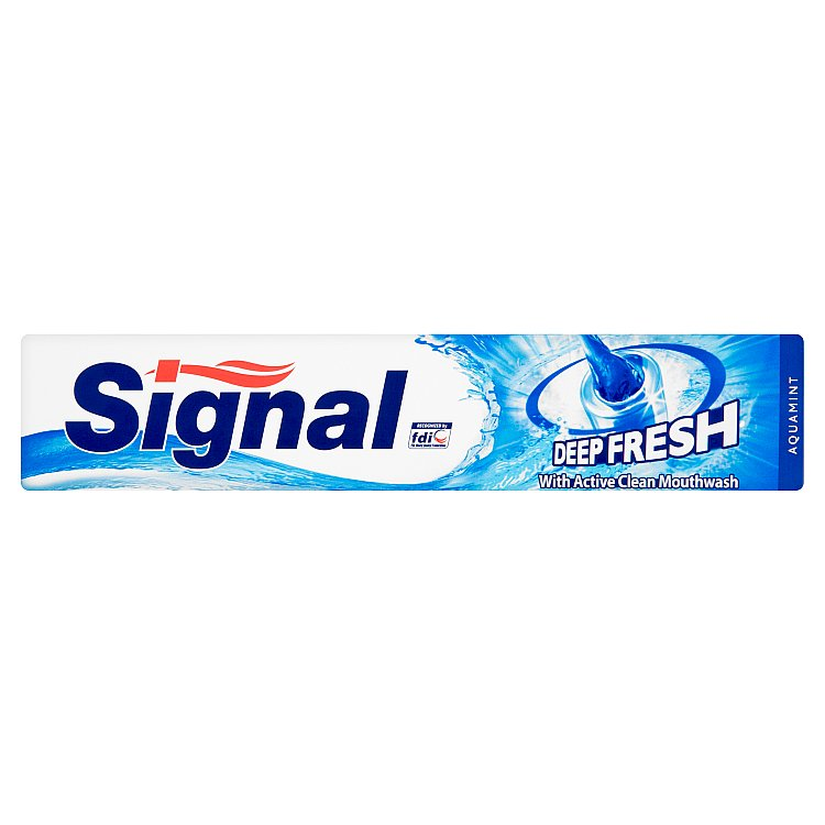 Fotografie Signal Deep fresh zubní pasta s ústní vodou active clean 75 ml