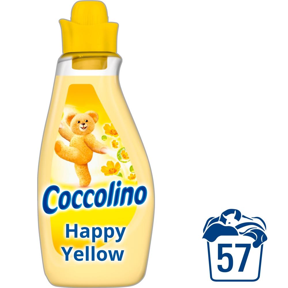 Coccolino Happy Yellow aviváž, 57 praní 2 l