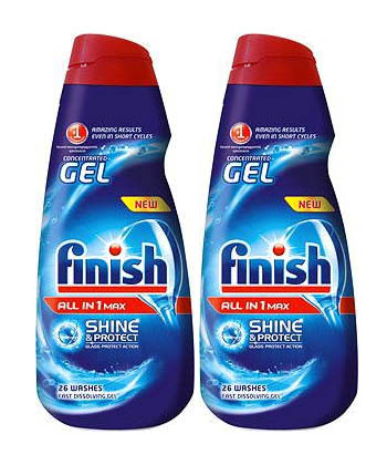 Finish All in 1 gel do myčky nádobí 2 x 650 ml