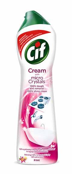 Cif Cream Pink flower krémový čistící písek 500 ml