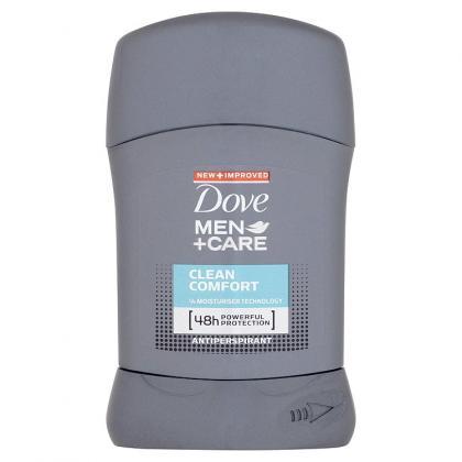 Fotografie Dove Men+Care Clean Comfort tuhý antiperspirant pro muže 50 ml