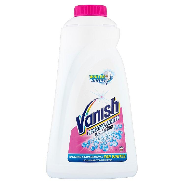 Vanish Oxi Action Crystal White odstraňovač skvrn na bílé prádlo, 10 praní 1 l
