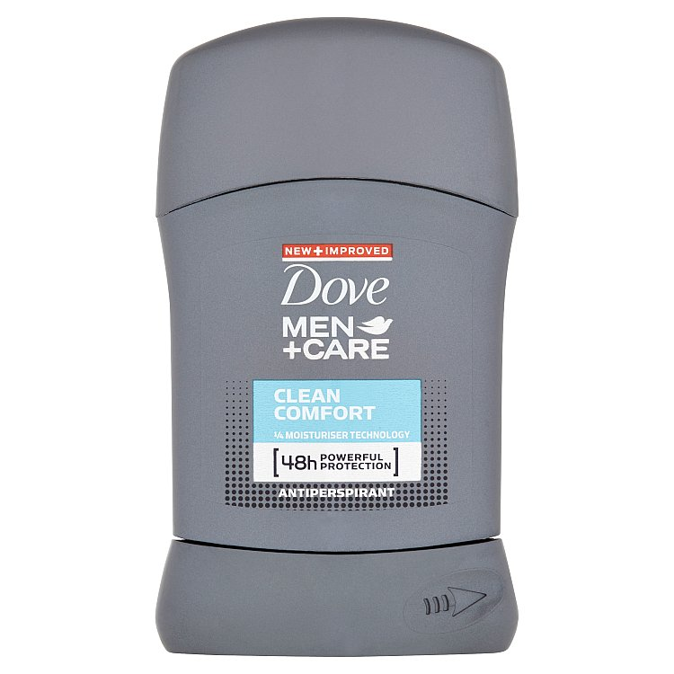 Dove Men+Care Clean Comfort tuhý antiperspirant pro muže 50 ml
