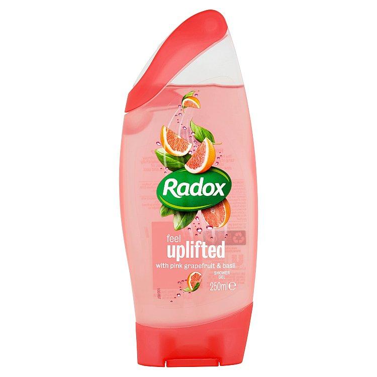 Fotografie Radox Feel uplifted pink grapefruit & basil sprchový gel 250 ml