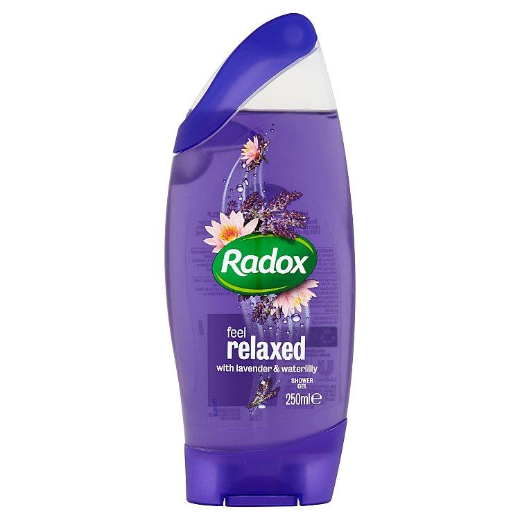 Fotografie Radox Feel relaxed lavender & waterlilly sprchový gel 250 ml