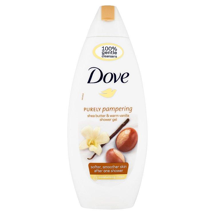 Dove Purely pampering bambucké máslo a vanilka vyživující sprchový gel 250 ml