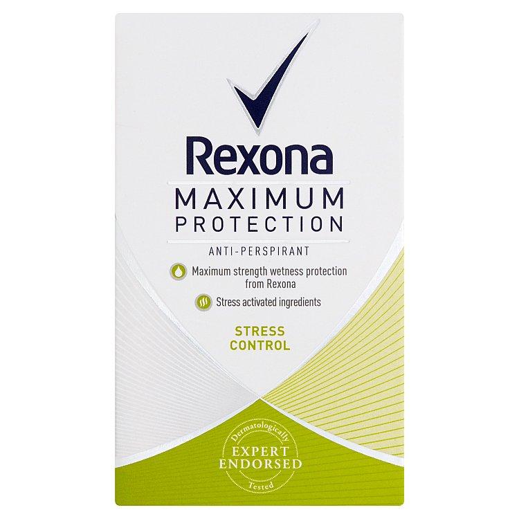 Fotografie Rexona Maximum Protection Stress Control antiperspirační krém 45 ml