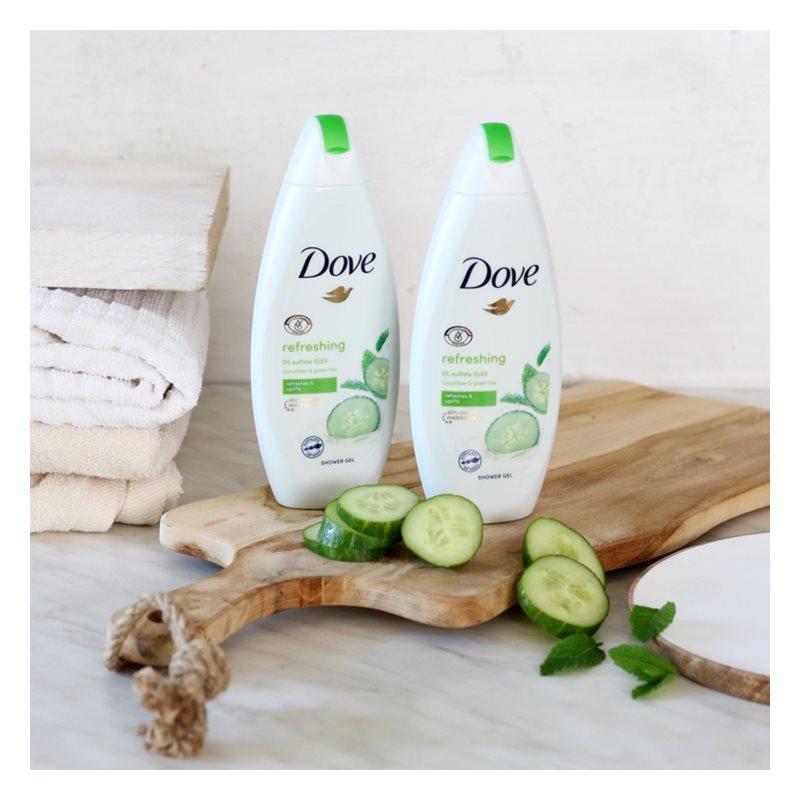 Dove Refreshing sprchový gel okurka a zelený čaj 500 ml