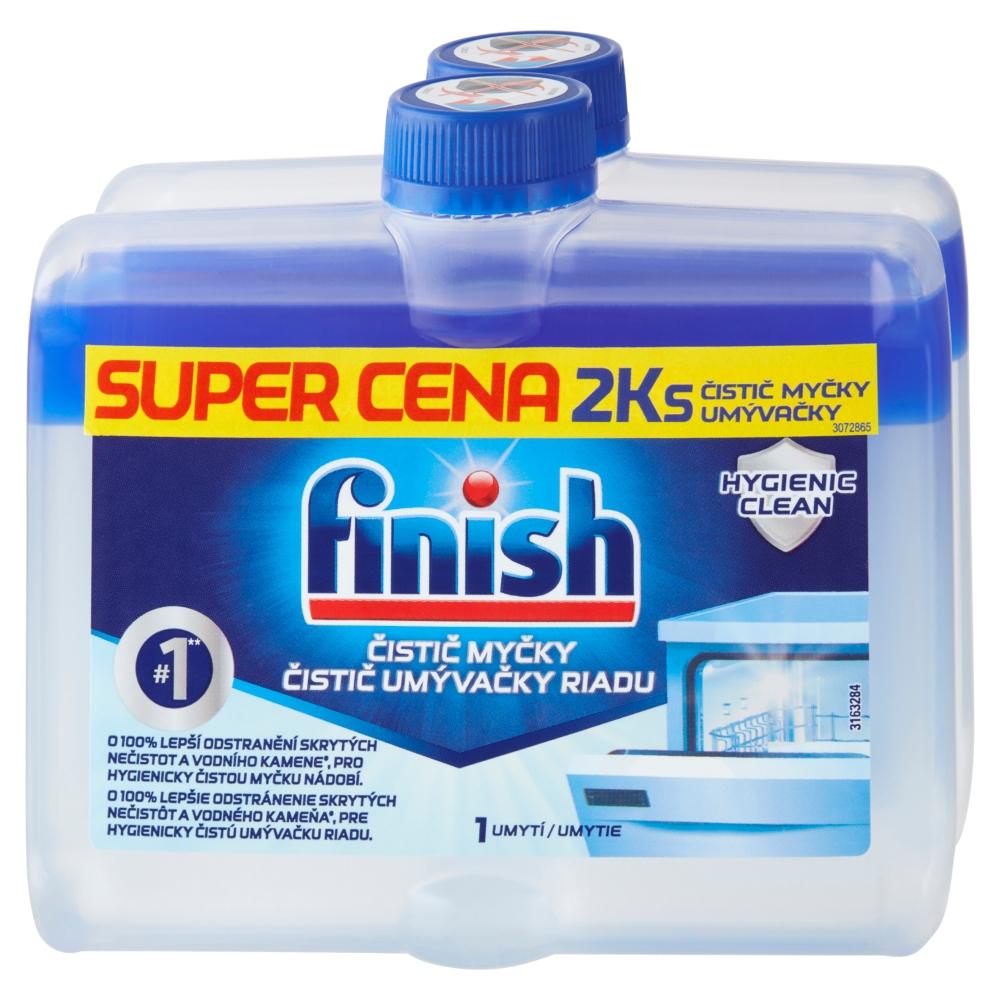 Finish čistič myčky na nádobí 2 x 250 ml