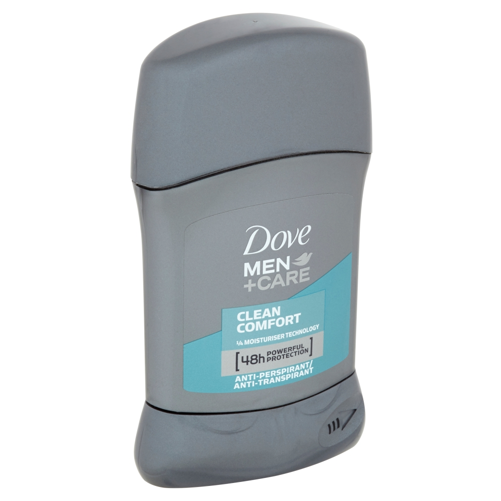 Dove Men+Care Clean Comfort tuhý antiperspirant pro muže 50 ml