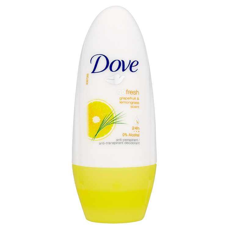 Fotografie Dove Go Fresh Kuličkový Antiperspirant Grapefruit&Vůně Citronové Trávy 50 ml