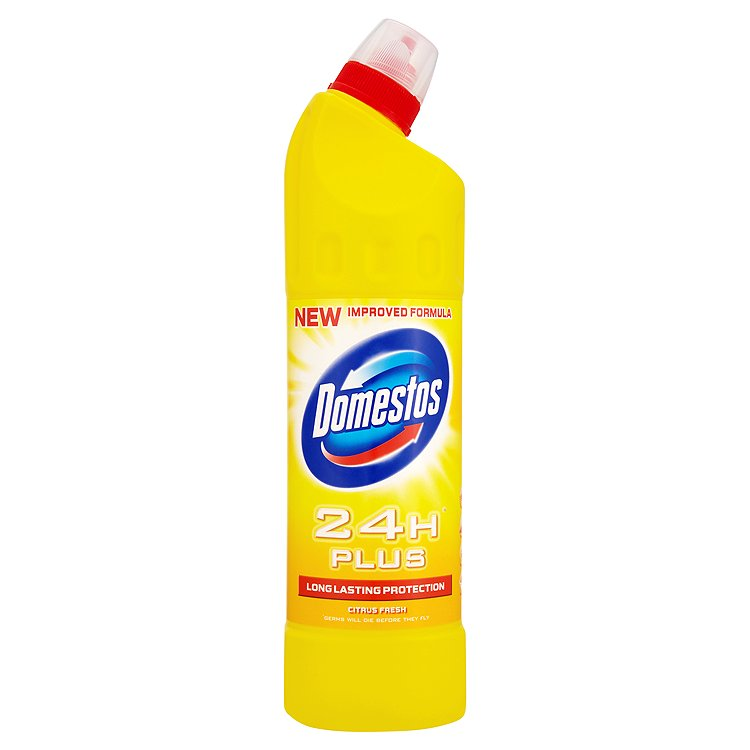 Domestos 24H Plus Tekutý desinfekční a čistící přípravek Citrus 750 ml