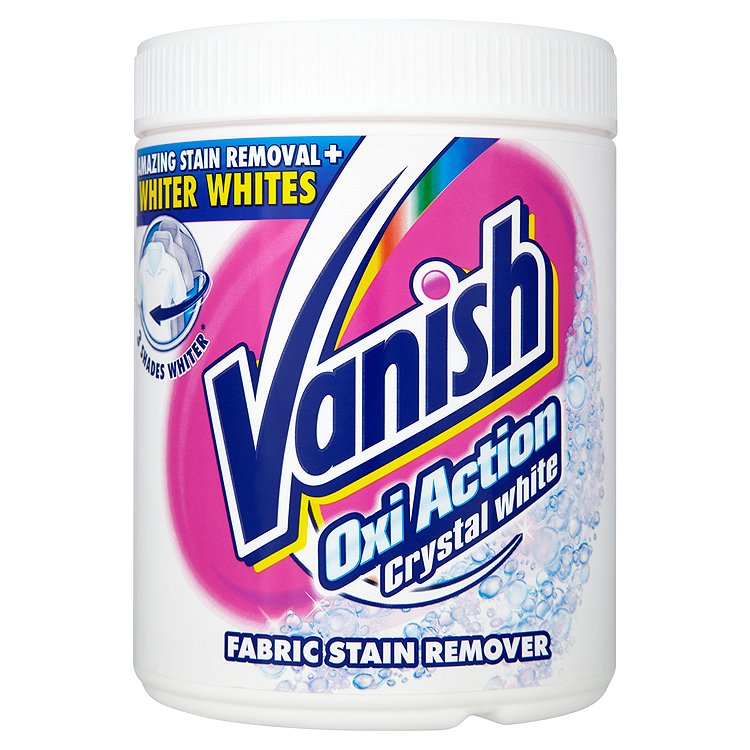 Vanish Oxi Action Crystal white odstraňovač skvrn prášek 1 kg