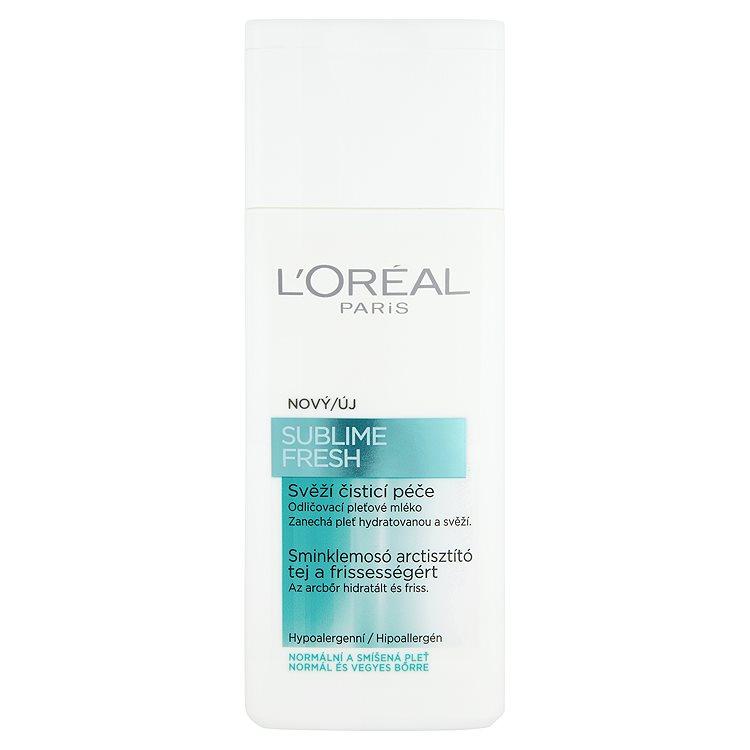 Fotografie L'Oréal Paris Sublime Fresh odličovací pleťové mléko 200 ml