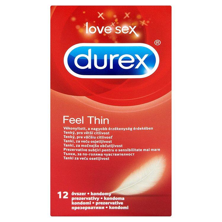 Durex Feel thin tenké kondomy pro větší citlivost 12 ks