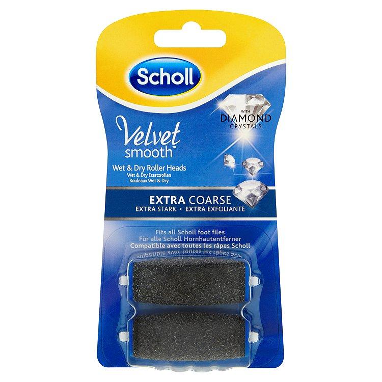 Scholl Velvet Smooth Rotační hlavice s diamantovými krystalky / Extra hrubé 2 ks/bal.