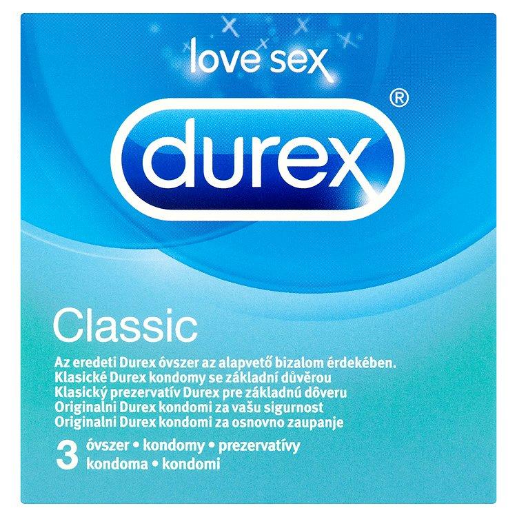 Durex Classic easy-on kondomy s lubrikantem 3 ks