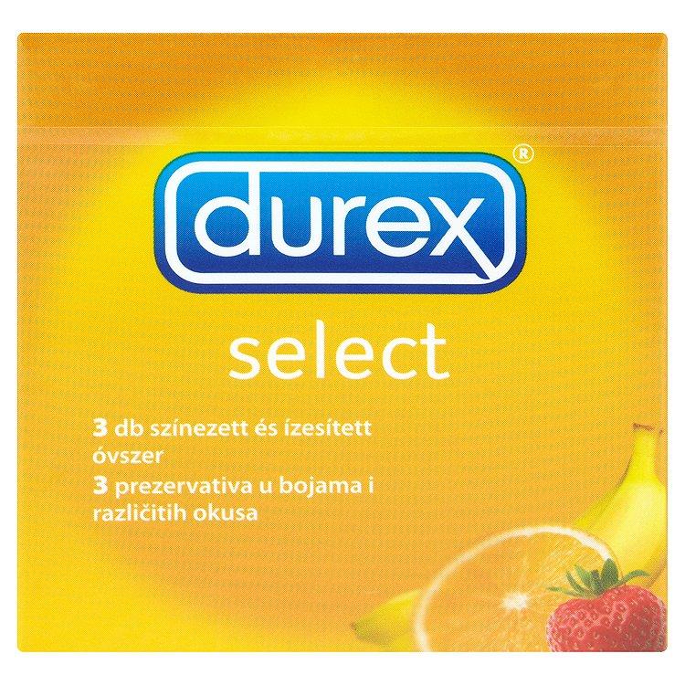 Durex Select barevné kondomy s příchutí 3 ks