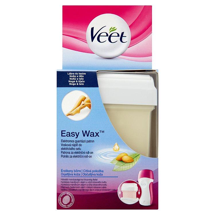 Veet Easy Wax Vosková náplň do elektrického setu pro nohy a tělo 50 ml