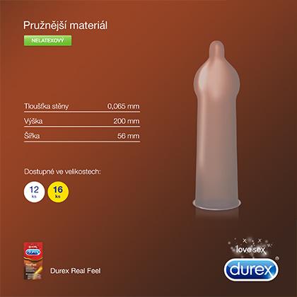 Fotografie Durex Love Sex RealFeel kondomy 10 ks