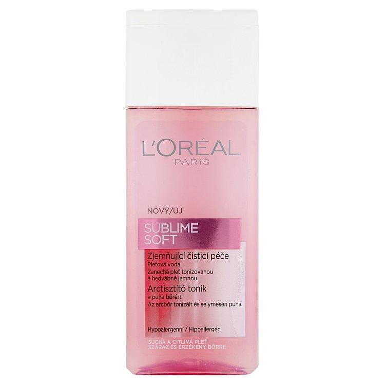 Fotografie L'Oréal Paris Sublime Soft pleťová voda 200 ml
