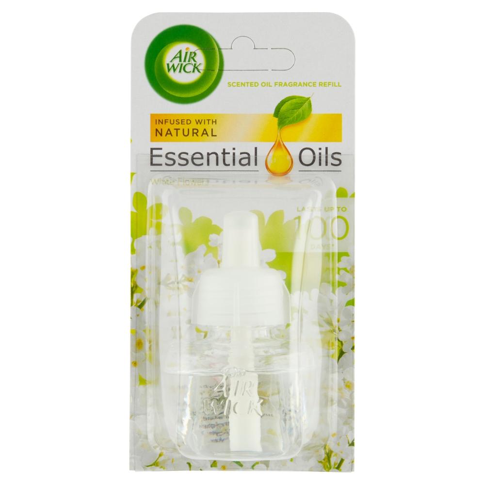 Air Wick Essential Oils náplň do elektrického osvěžovače bílé květy 19 ml