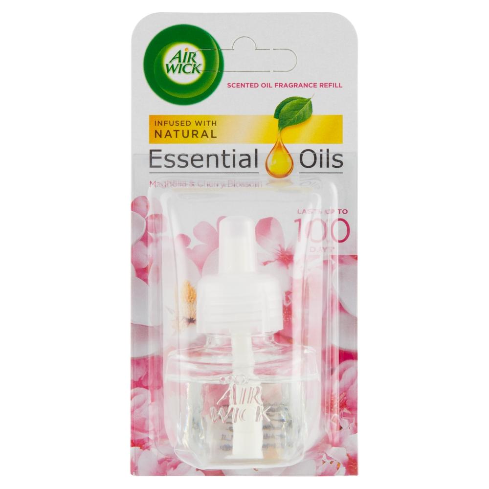 Air Wick Essential Oils náplň do elektrického přístroje s vůní magnolie a květy třešní 19 ml