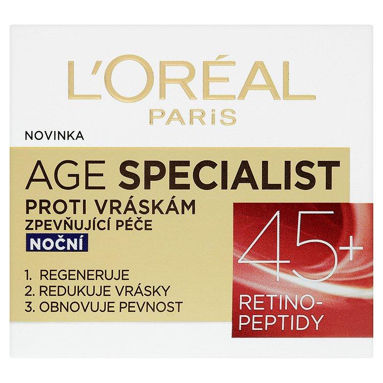 L'Oréal Paris Age Specialist, zpevňující noční péče proti vráskám 50 ml