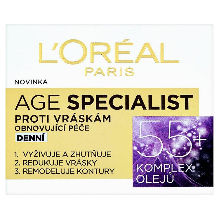 L'Oréal Paris Age Specialist, obnovující denní péče proti vráskám 55+ 50 ml