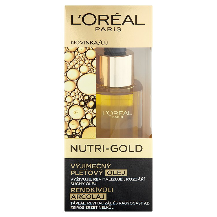 L'Oréal Paris Nutri-Gold, výjimečný pleťový olej 30 ml
