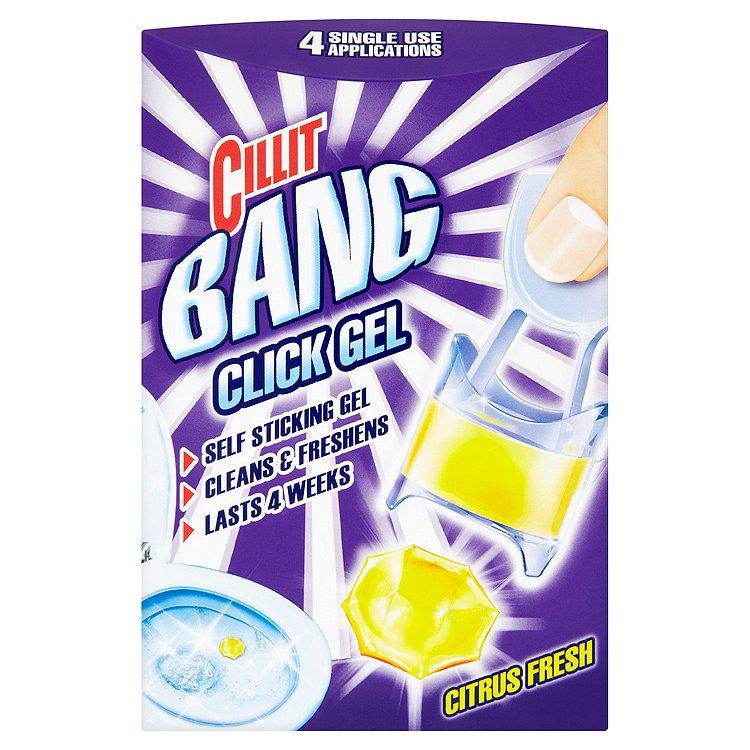 Cillit Bang WC Click gel 4 x 5 g, vůně citrusu