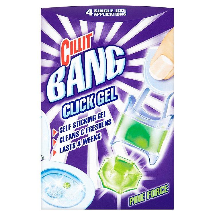 Cillit Bang WC Click gel vůně lesa 4 x 5 g