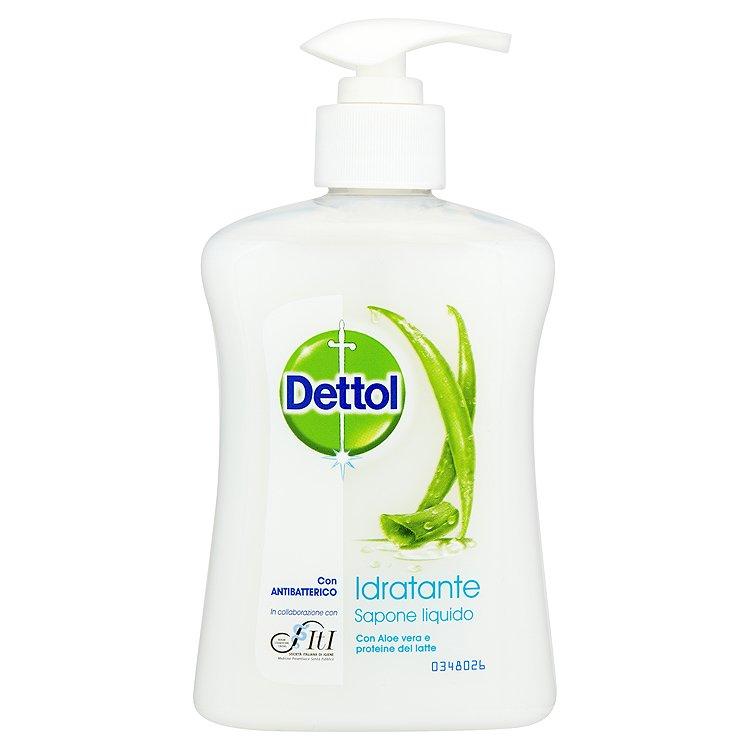 Dettol Hydratační antibakteriální mýdlo s aloe vera a mléčnými proteiny 250 ml