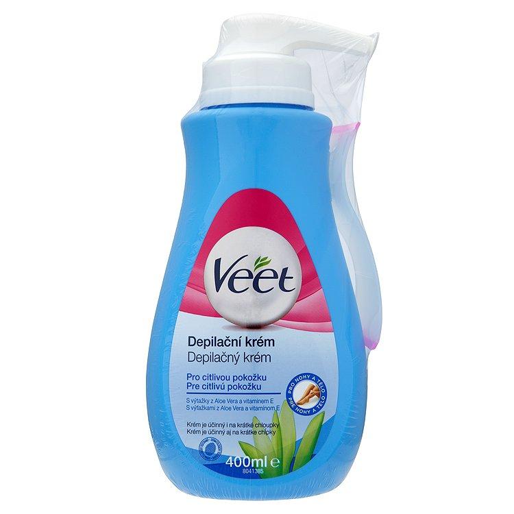 Veet Depilační krém pro citlivou pokožku s aloe vera & vitamínem E 400 ml