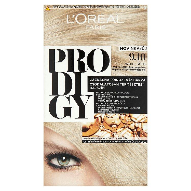 L'Oréal Paris Prodigy White Gold velmi světlá blond popelavá 9.10